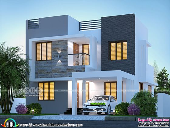 1775 square feet modern 3 BHK house