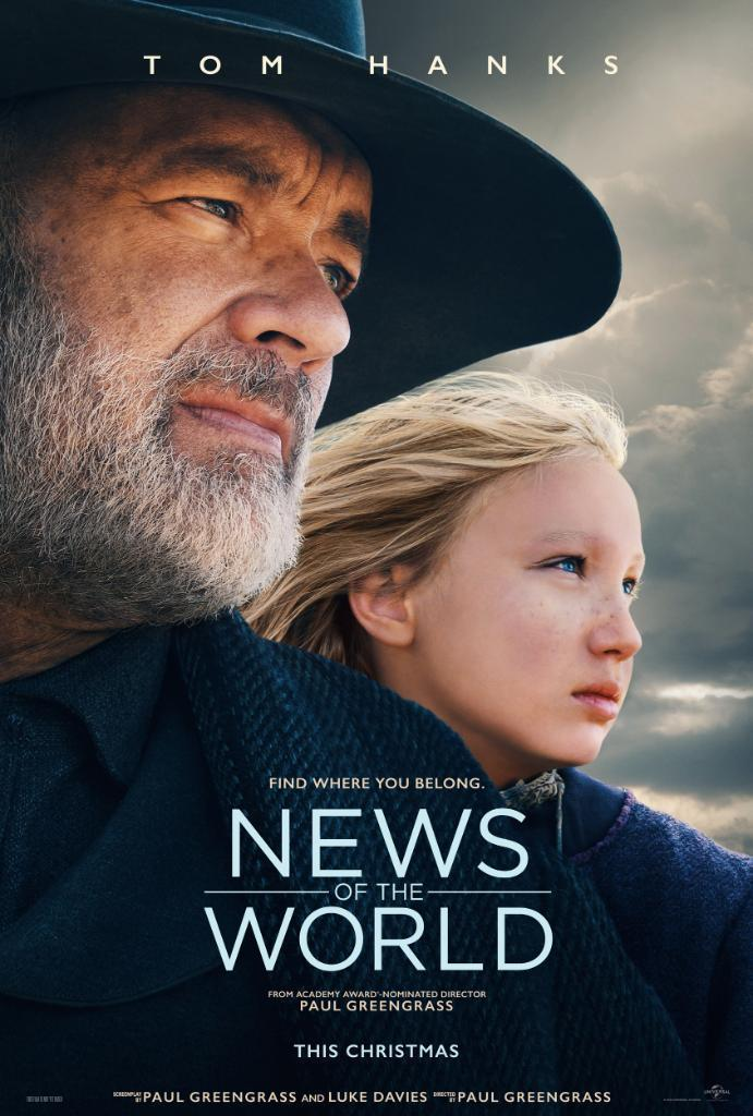 Download News of the World (2020) Full Movie in Hindi Dual Audio BluRay 720p [1GB]