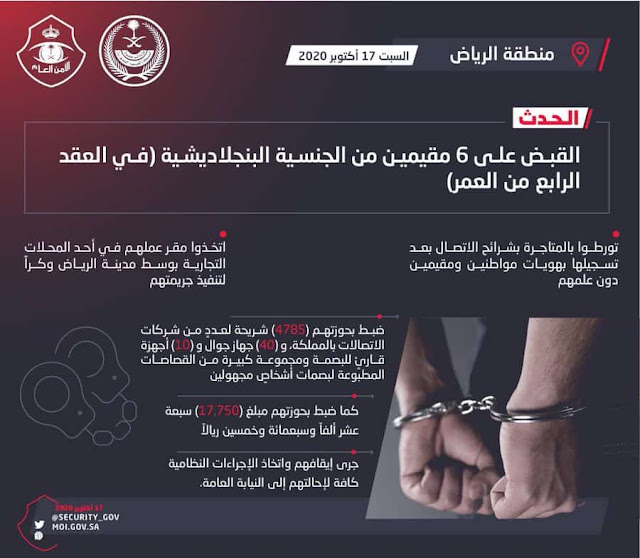 6 Bangladeshi Expats arrested with 4785 Sim Cards in Riyadh - Saudi-Expatriates.com