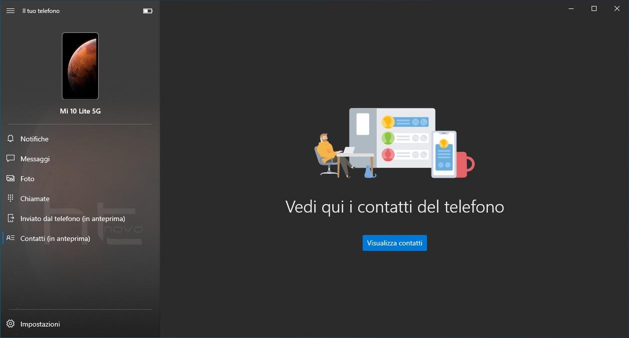 L'app Il tuo telefono per Windows 10 ottiene nuove funzionalità