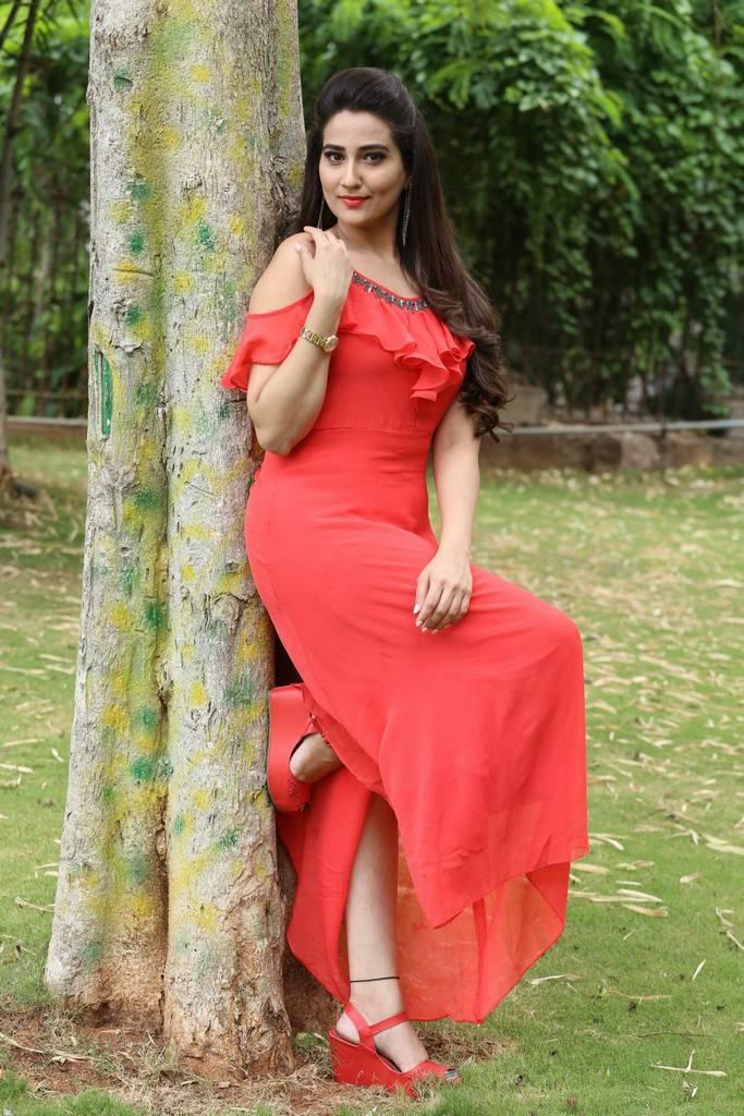 Manjusha Stills At Kurukshetram Trailer Launch