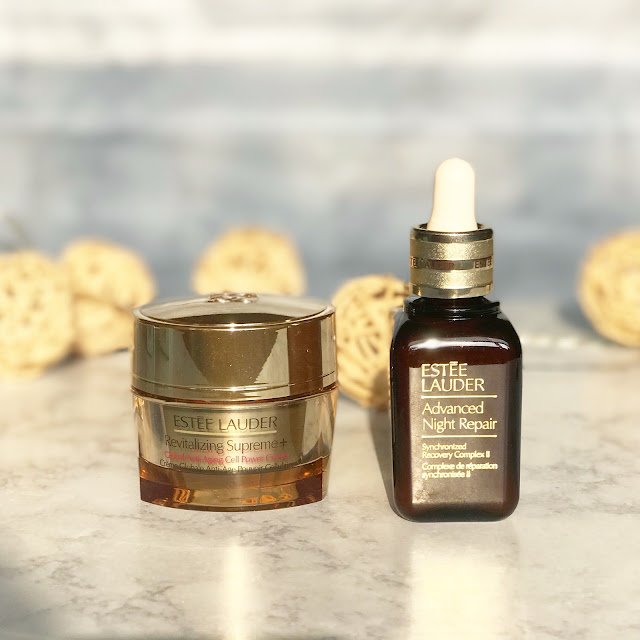 estee lauder advanced night repair serum and mositurzier