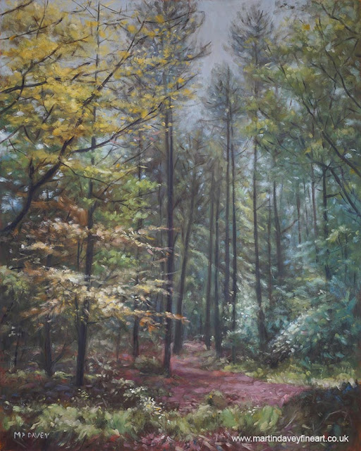 oil landscape painting Hampshire Martin Davey