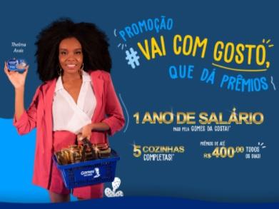 """Cadastrar Promoção Gomes da Costa 2021 Um Ano Salário e Cozinhas """"Vai Com Gosto Que Dá Prêmios"""""""