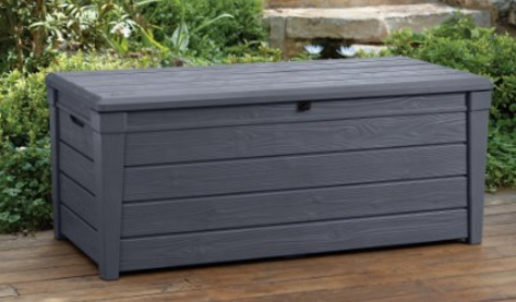 Keter Brightwood Resin 120-Gallon Outdoor Storage Deck Box Keter Plastic Deck Storage Container & Keter Deck Box ~ Outdoor Furniture