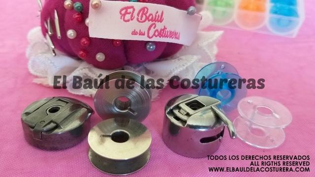 Bobinas metálicas y plásticas para máquinas de coser