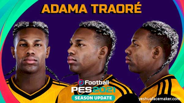 PES 2021 Adama Traore Face by yeshua