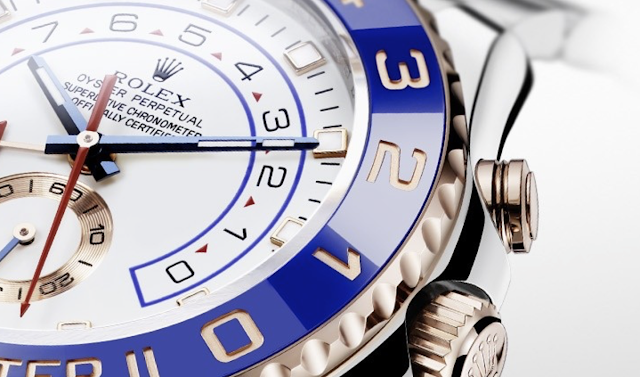 Closeup photo of yacht-master ii model