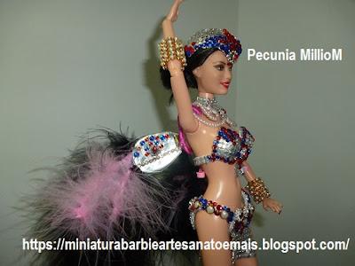 Barbie Rainha de Bateria de Escola de Samba No Carnaval Do Rio De Janeiro 2017 Criada Por Pecunia MillioM