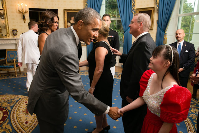 Brina Kei Maxino with Obama