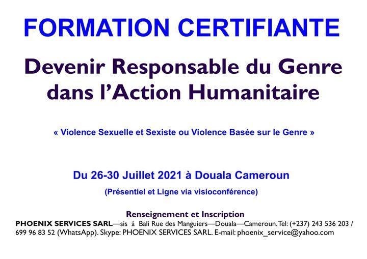 Formation Certifiante: Devenir Responsable du Genre dans l'Action Humanitaire