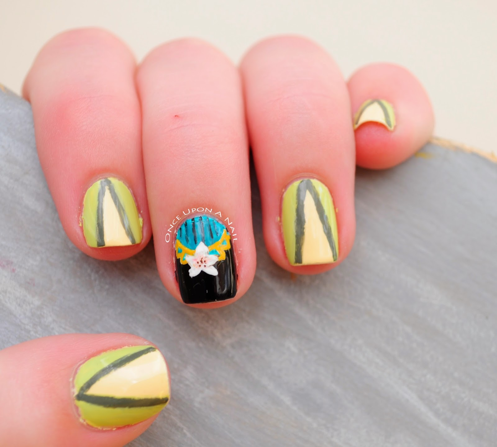 Mulan Inspired Nails: Once Upon A Nail: Disney Princess Challenge #7: Mulan