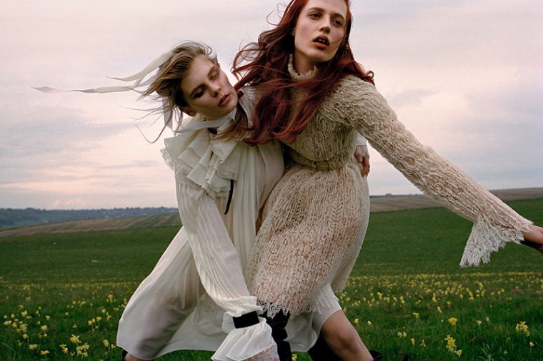Alexandra Elizabeth & Julia Banas by Yelena Yemchuk for Vogue China October 2016