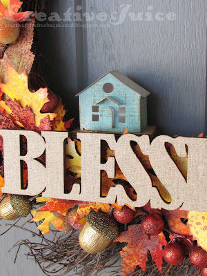 Lisa Hoel - Blessed Home fall wreath #timholtzleaflove