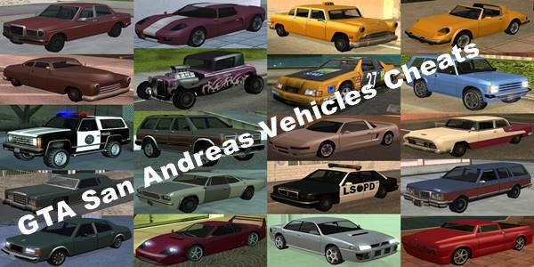 GTA San Andreas Cheat Codes For Vehicles