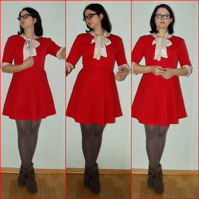 [Fashion] Christmas Outfit: Red Dress + Blouse