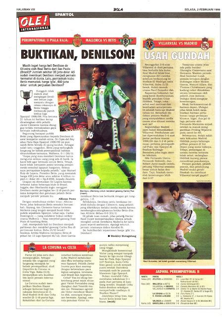 COPA DEL REY 1999 REAL MALLORCA VS REAL BETIS DENILSON