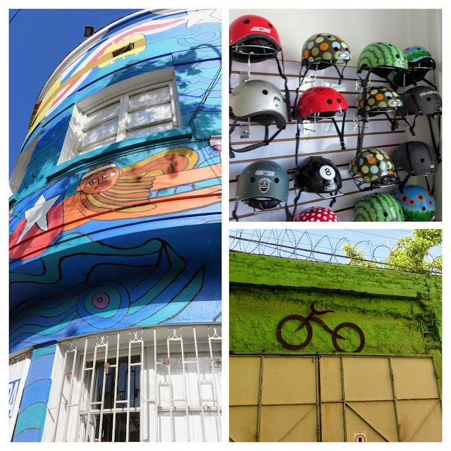 La Bicicleta Verde bicycle tour office in Santiago Chile