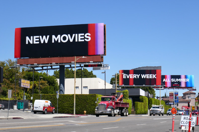 New Movies Every Week All Summer Netflix billboards