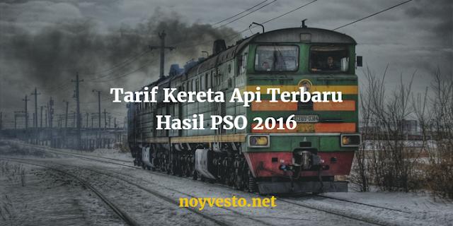Tarif kereta api Terbaru 2016