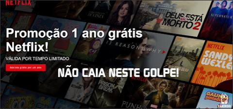 URGENTE! Novo golpe promete conta Netflix Gratuitamente, tenha CUIDADO!