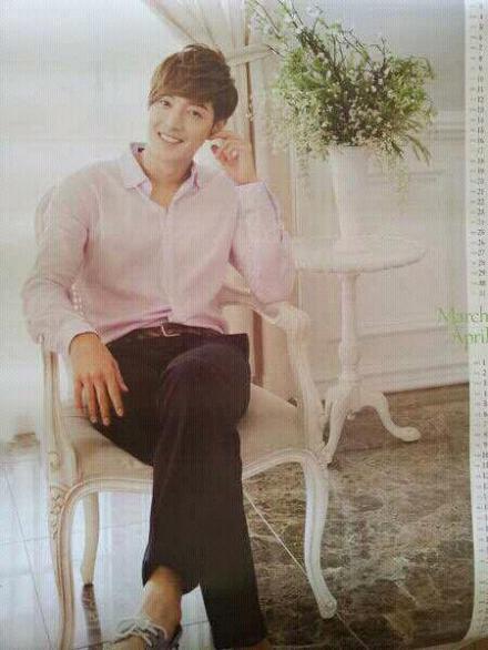 ss501 official   scan  kim hyun joong 2013 calendar by datv