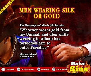 MAJOR SIN. 56. MEN WEARING SILK OR GOLD