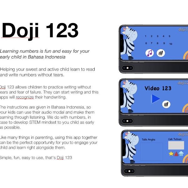 Doji 123: Ios App Untuk Belajar Menulis Angka