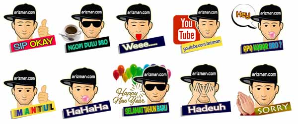 WhatsApp Sticker Arizman.com