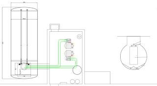 plano instalación de calefacción