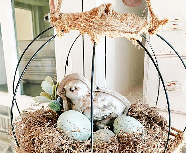 Hanging Jute Basket for Spring