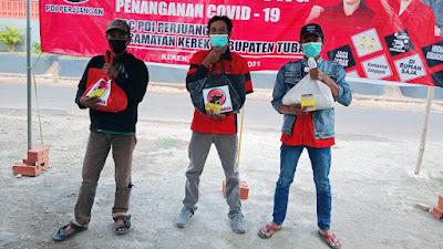 PDI Perjuangan Tuban Buka Posko Gotong Royong, Bantu Warga Terdampak Pandemi Covid-19