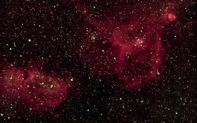 Nebuloses IC1805, IC1848 i NGC896