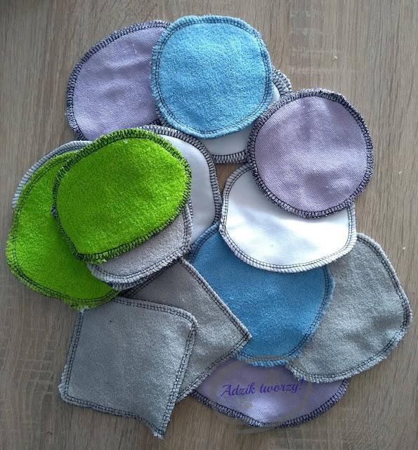 Adzik tworzy - wielorazowe płatki kosmetyczne DIY zero waste