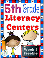 5th-Grade Week 1 Centers