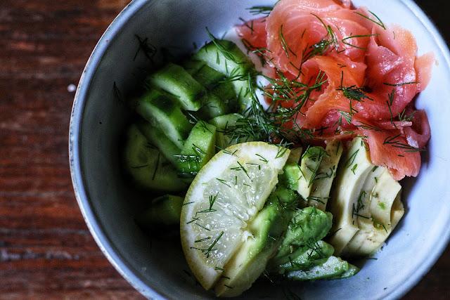 Smoked Salmon Avocado Yoghurt Bowls