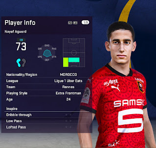 PES 2021 Faces Nayef Aguerd by Fleishman