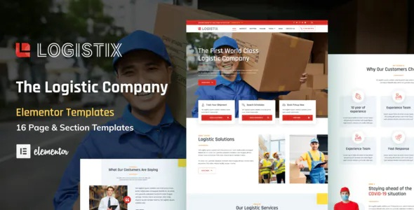 Best Transportation Courier & Logistic Company Elementor Template Kit