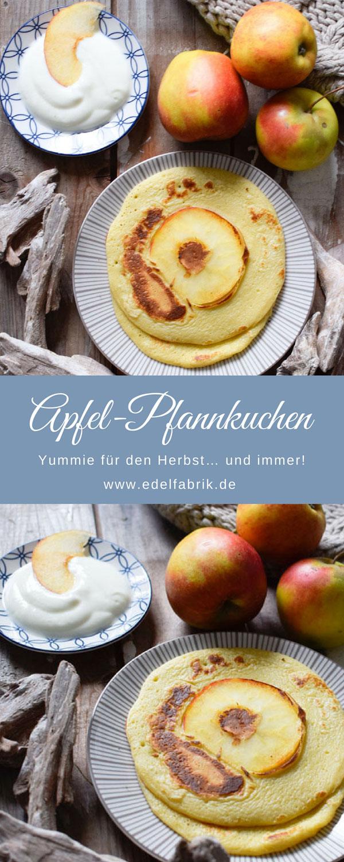 Pfannkuchen, Pancakes mit Stevia und Apfel