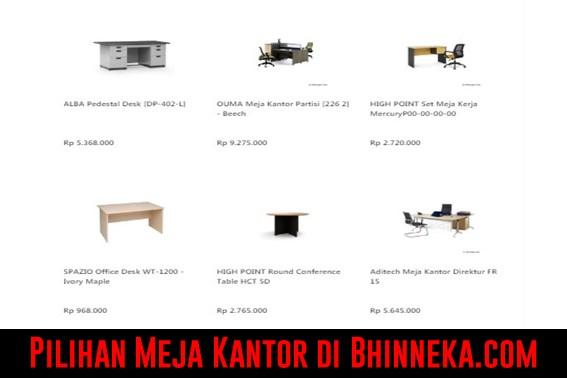 Pilihan Meja Kantor di Bhinneka.com