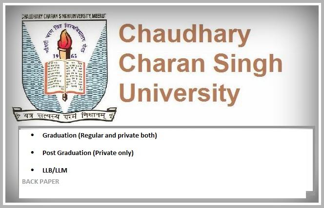 CCS University back paper exam form 2014-15 dates - CCS University ...