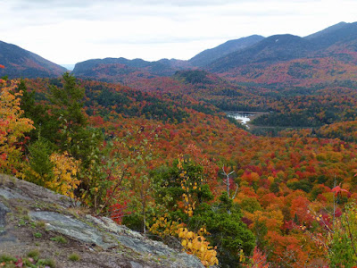 View towards Wilmington Notch from Cobble Hill, Lake Placid, Sunday October 9, 2016.  The Saratoga Skier and Hiker, first-hand accounts of adventures in the Adirondacks and beyond, and Gore Mountain ski blog.