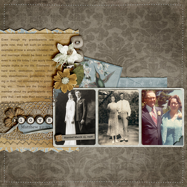 Grandparents: Digital Scrapbook Page