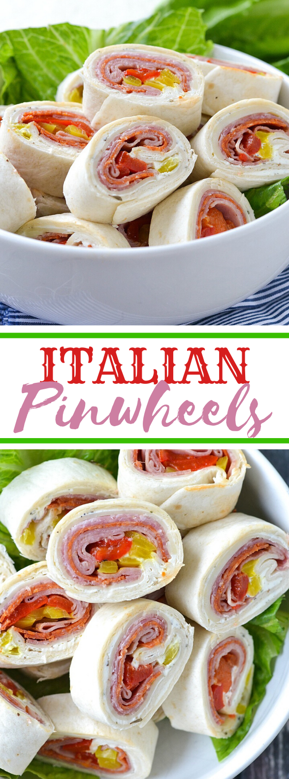 ITALIAN PINWHEELS #appetizers #lunch