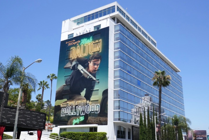 Giant Once Upon a Time in Hollywood movie billboard