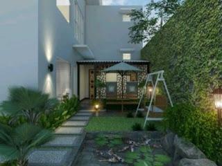 จัดสวนข้างบ้านพื้นที่แคบ