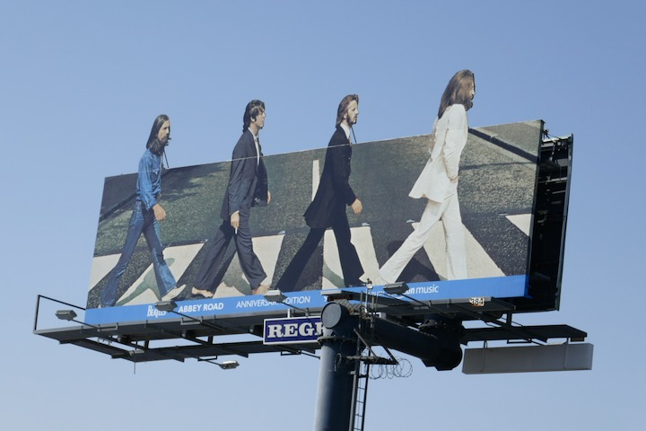 Beatles Abbey Road 2019 Anniversary billboard