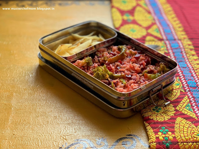 Beet Broccoli Pulav