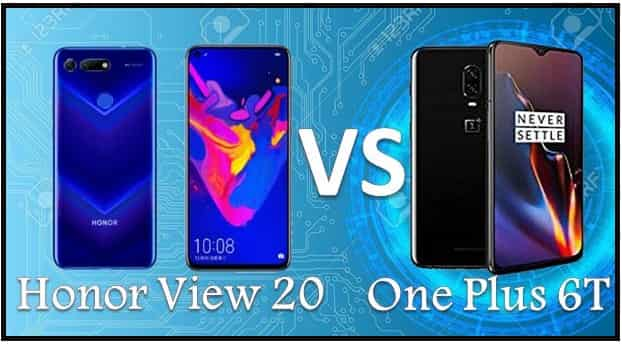 Honor V20 vs OnePlus 6T