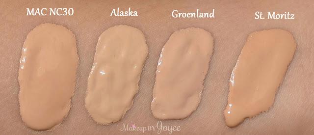 Nars Velvet Matte Skin Tint Alaska Groenland St. Moritz Swatches